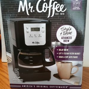 Mr Coffee 5 cup auto timer maker